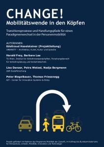 Titelblatt: CHANGE! - Zusammenfassende Ergebnisse als PDF Broschüre