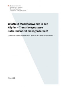 Endbericht vom Projekt CHANGE - Umschlag der Broschüre